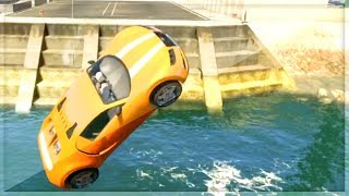 GTA 5 STUNTS - Stunting For Dummies - CARS FLYING OVER WATER - Episode 6