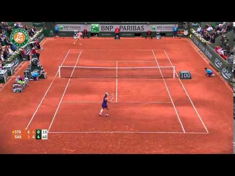 Sharapova VS  Stosur 2014 Best Point French Open