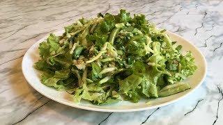 """Салат """"Свежесть"""" / Полезный Салат для Похудения (Диета) / Useful Salad """"Freshness"""" / Простой Рецепт"""