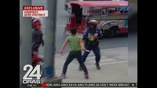 24 Oras: Exclusive: Panlalaban ng isang lalaki sa traffic constable gamit ang kutsilyo, na-hulicam