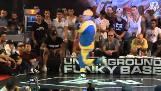 underground funky base vol 8 world final 1 vs 1 b-boy quarter-final (pankıs vs santa)