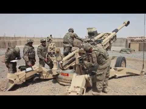 **MUST SEE** Airborne Field Artillery in Afghanistan!  M777 and M119 Howitzers in Action!