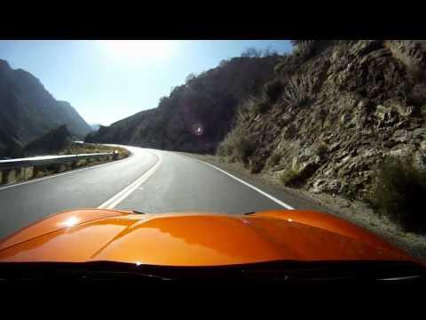 Corvette C6 Vert Running Down Angeles Crest Highway  6.18.2011