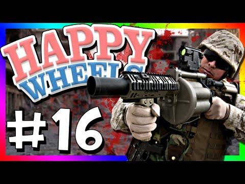 HAPPY WHEELS WAR?!?! | Happy Wheels (Funny Moments #16)