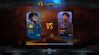 StarCraft 2 LotV Cybbet Race Wars 2016 Day 1 Match 1: aLive vs HyuN