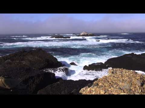 ♥♥ Relaxing 3 Hour Video of Ocean Waves Crashing Into Scenic Rocky Shore