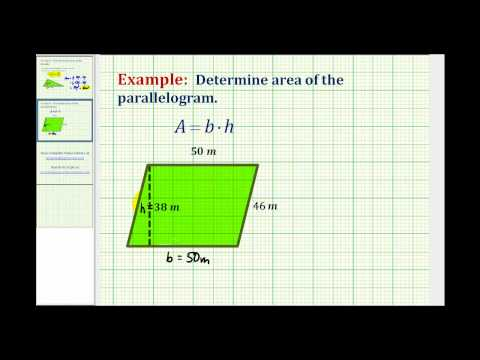 Ex:  Area of a Parallelogram (Whole Numbers)