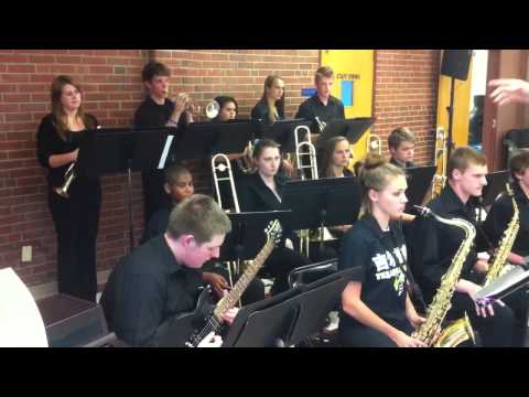 The Gilbert School Jazz Band performs