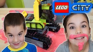 Lego City Volcano Exploration Trucks - The Floor is Lava Pretend Play with Slime!