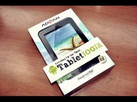 Unboxing Review Advan Vandroid T1F Tablet 7″ Tablet PC Quad Core #