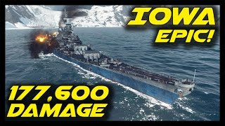 ► World of Warships: Iowa 178K Damage, 6 Medals - Epic Battle in Epic Ship! - Road to Montana