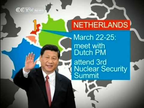 Xi Jinping arrives in the Netherlands to begin 11-day tour
