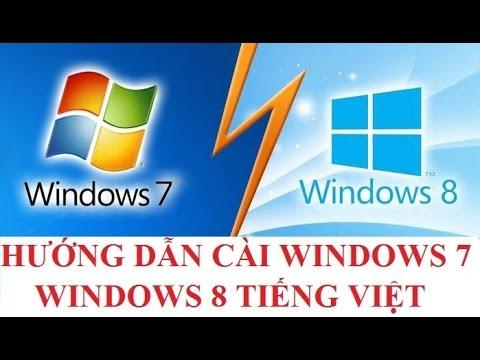 Link download, hướng dẫn tải và cài đặt Windows 7, Windows 8 từ tiếng Anh chuyển sang tiếng Việt | win 8 tieng viet