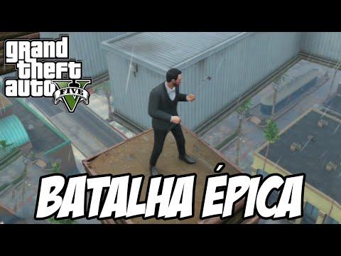 GTA V - Batalha ÉPICA no céu e surto de suicídios