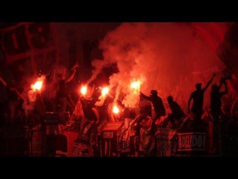 SpVgg Fürth - 1. FC Nürnberg 11.08.2014 Corteo, Choreo, Pyro, Support