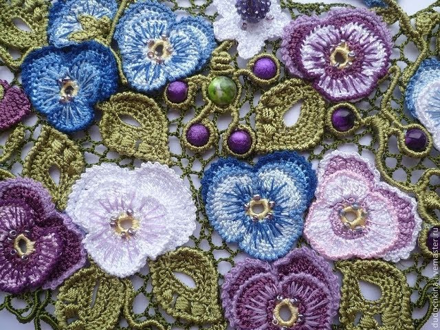 Вязание Ирландского Кружева Крючком - 2018 / Knitting an Irish Lace Crochet
