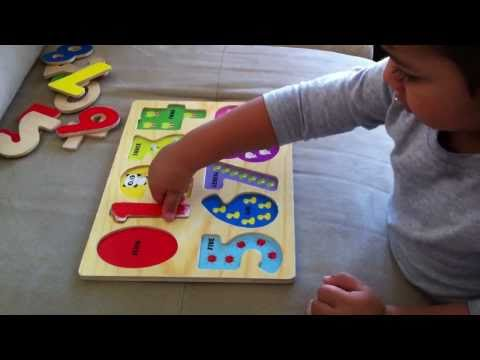 Learn to Count, Learning Numbers using a Puzzle 123
