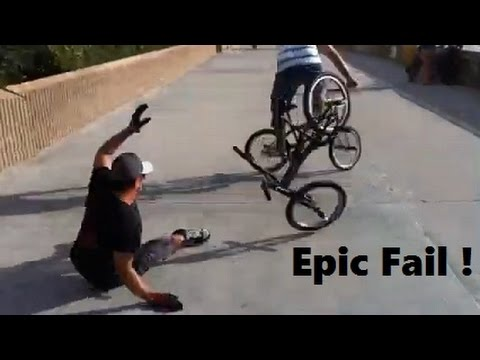 [BMX Epic Fail Cyclone Gone Wrong! John Goes Down!] Video