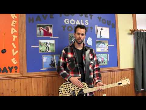 Sher-Wood Hockey Stick Guitar - Buffalo Sabres