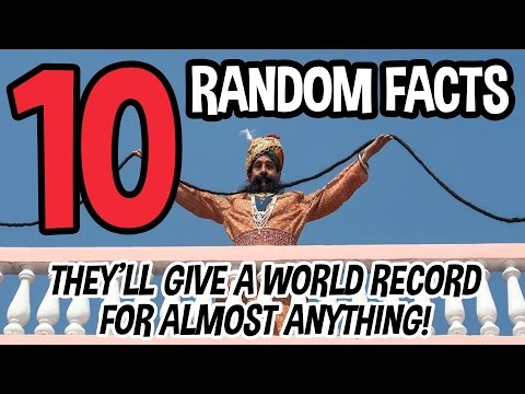 10 RANDOM FACTS That Prove They Give World Records for Almost Anything!