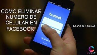 Como eliminar numero de telefono de facebook desde el celular