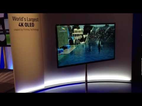 CES 2013- Panasonic World's Largest OLED 4K TV