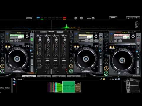 Virtual DJ Pioneer CDJ2000 4Deck DJM5000 Mixer Skin HD