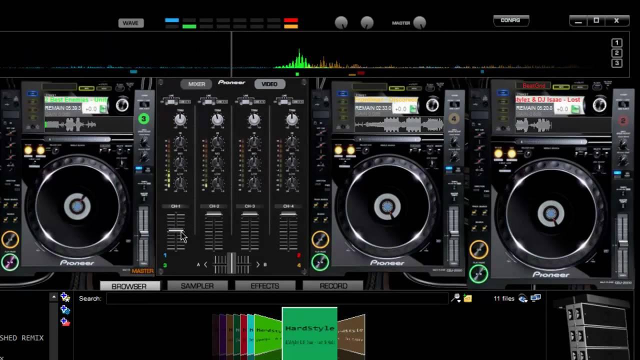 Virtual Dj Pioneer Cdj2000 4deck Djm5000 Mixer Skin Hd