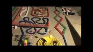 Dominoes amazing (homemade 5,292 wooden dominoes)