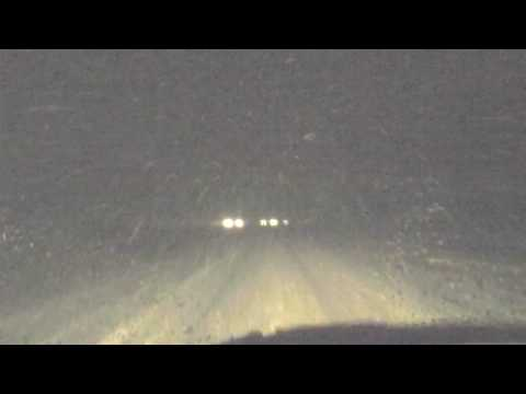 12-18-09 Winter Storm - Heavy Snow on US 220 just south of Greensboro, NC (Future I-73)