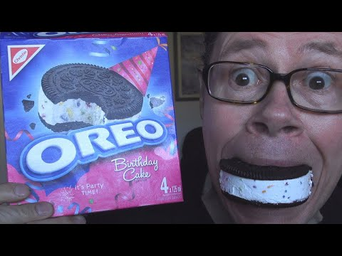 Oreo 100th Birthday Cake Cookie Review