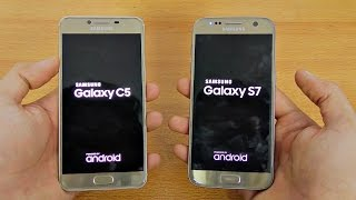 Samsung Galaxy C5 vs Galaxy S7 - Speed Test! (4K)