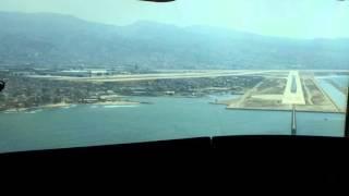 Middle East Airlines a320 cockpit landing
