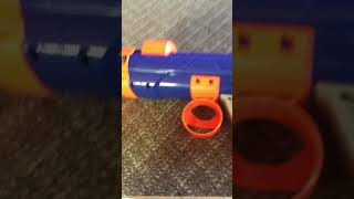 Nerf Dog Tennis Ball Launcher Missile Rounds Demonstration.