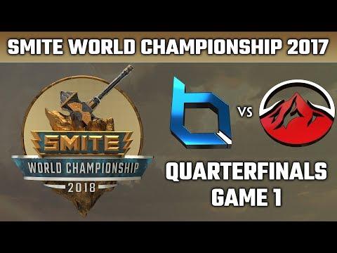 SMITE World Championship 2018: Quarterfinals - Obey Alliance vs. Elevate (Game 1)