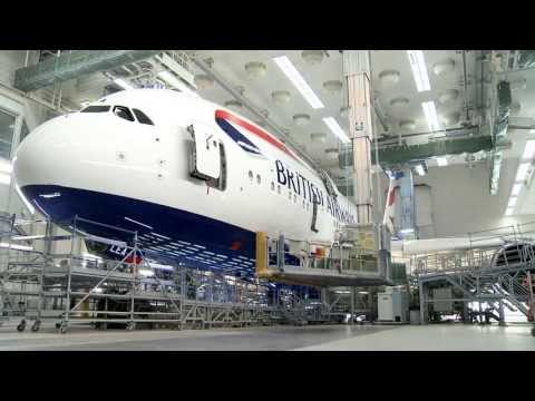 British Airways' first Airbus A380 receives its colours