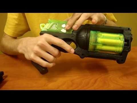 2 Custom Radioactive Nerf Mavericks:  Incredible