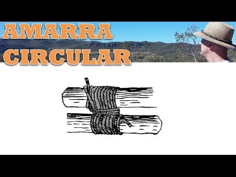 Amarra Paralela ou Amarra Circular - Guia de Nós e Amarras Tocandira -