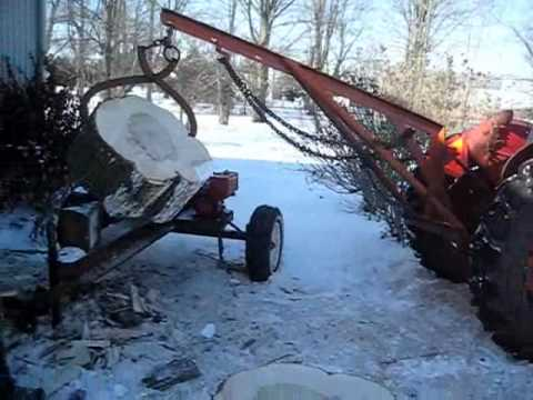 Tractor Wheelie and Log Splitter