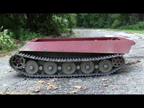 Armortek 1/6th scale RC King tiger project video#4 (Track and test drive)