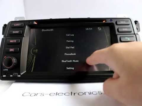 New BMW E46 M3 DVD Navigation Double Din Head unit Car audio for BMW E46