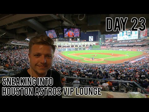 SNEAKING INTO HOUSTON ASTROS - VIP LOUNGE