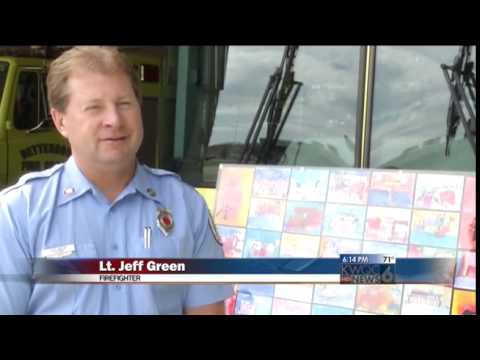 Rivermont Collegiate Students Donate Artwork to Firefighters