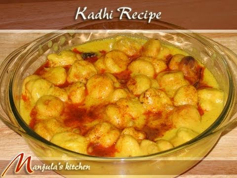 Kadhi pakoras recipe by manjula indian vegetarian cuisine for V kitchen restaurant vegetarian food