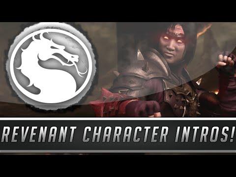 Mortal Kombat X: All Unique Revenant Character Intros/Interactions Dialogue! (Mortal Kombat 10)