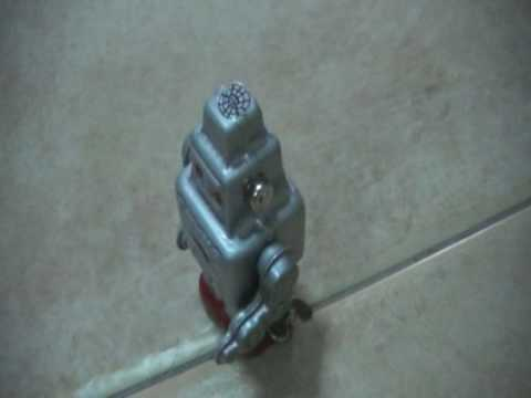 Miniature Wind Up Tin Toy Smoking Robot