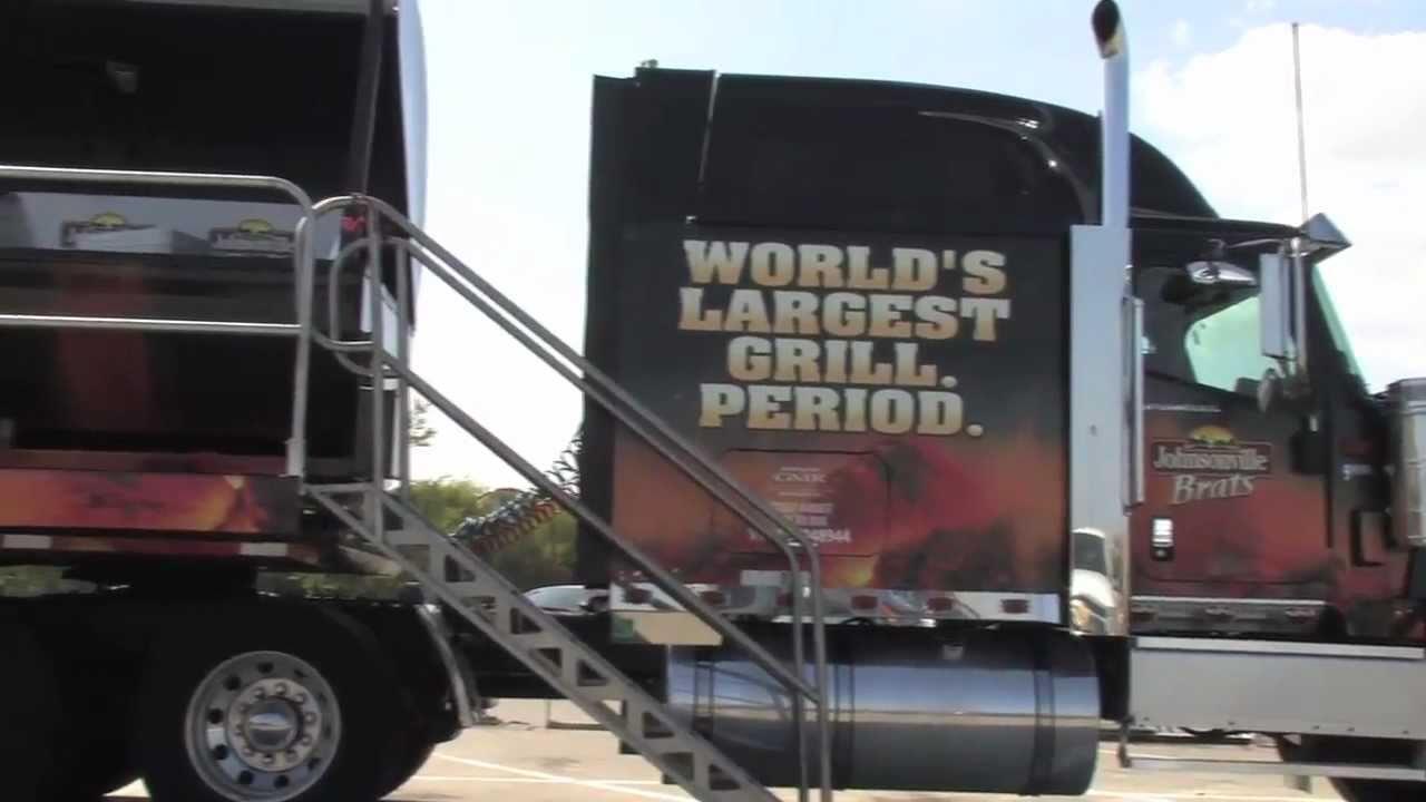 Semi truck bbq grill