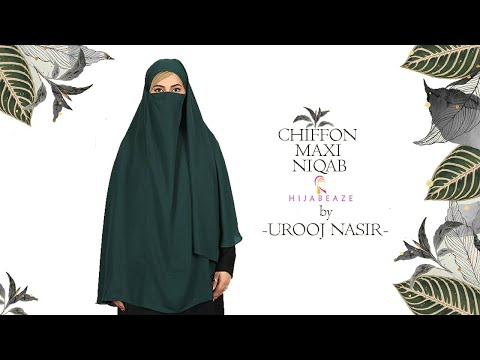Chiffon Maxi Niqab | Urooj Hijabeaze