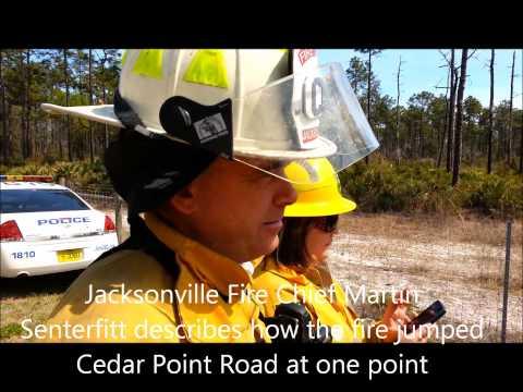 Watch: major wildfire scorches Black Hammock Island area
