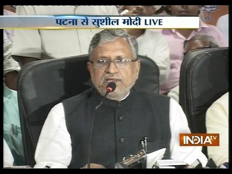Bihar BJP leader Sushil Kumar Modi addressing Media on Bihar Polls Live